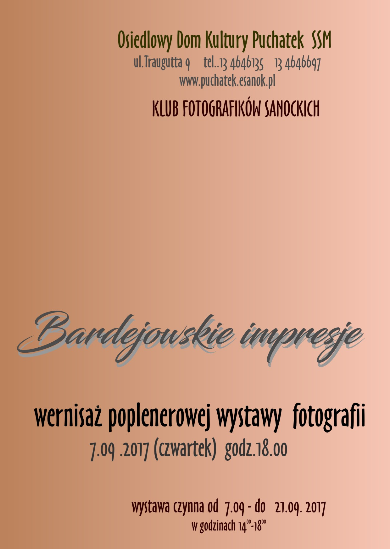 Afisz wystawa foto- Bardejów 2017do dr