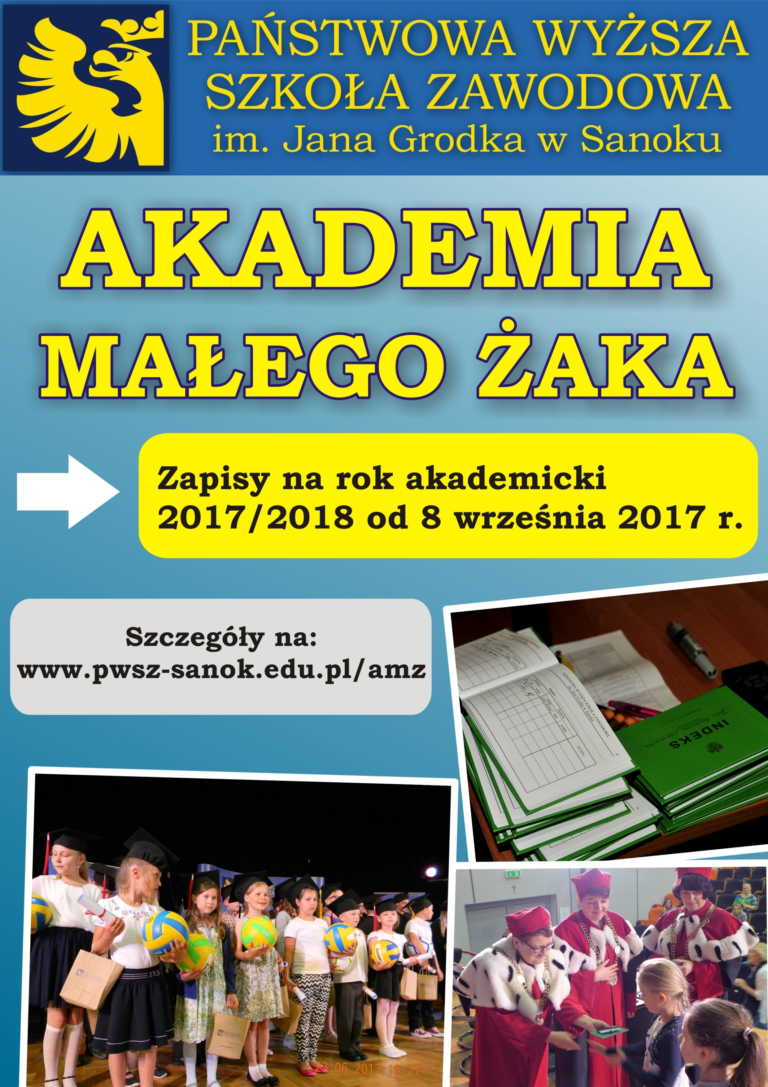 Akademia Małego Żaka 2017 plakat