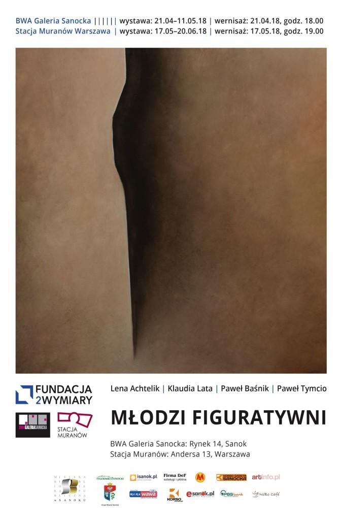 młodzi figuratywni plakat a3