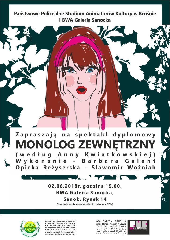 plakat monolog zewnetrzny