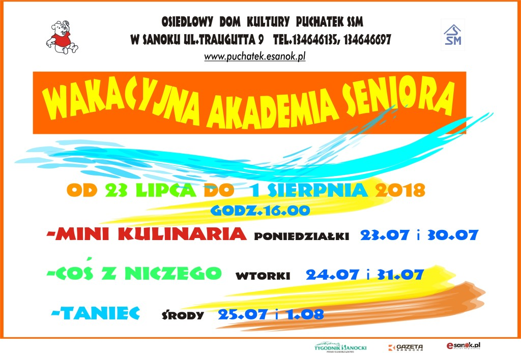 afisz  Seniorzy 2018